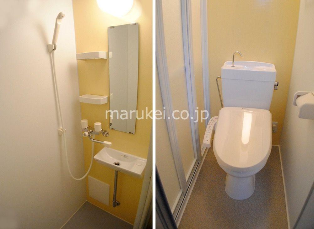 シャワーブースとトイレが仕切られています。