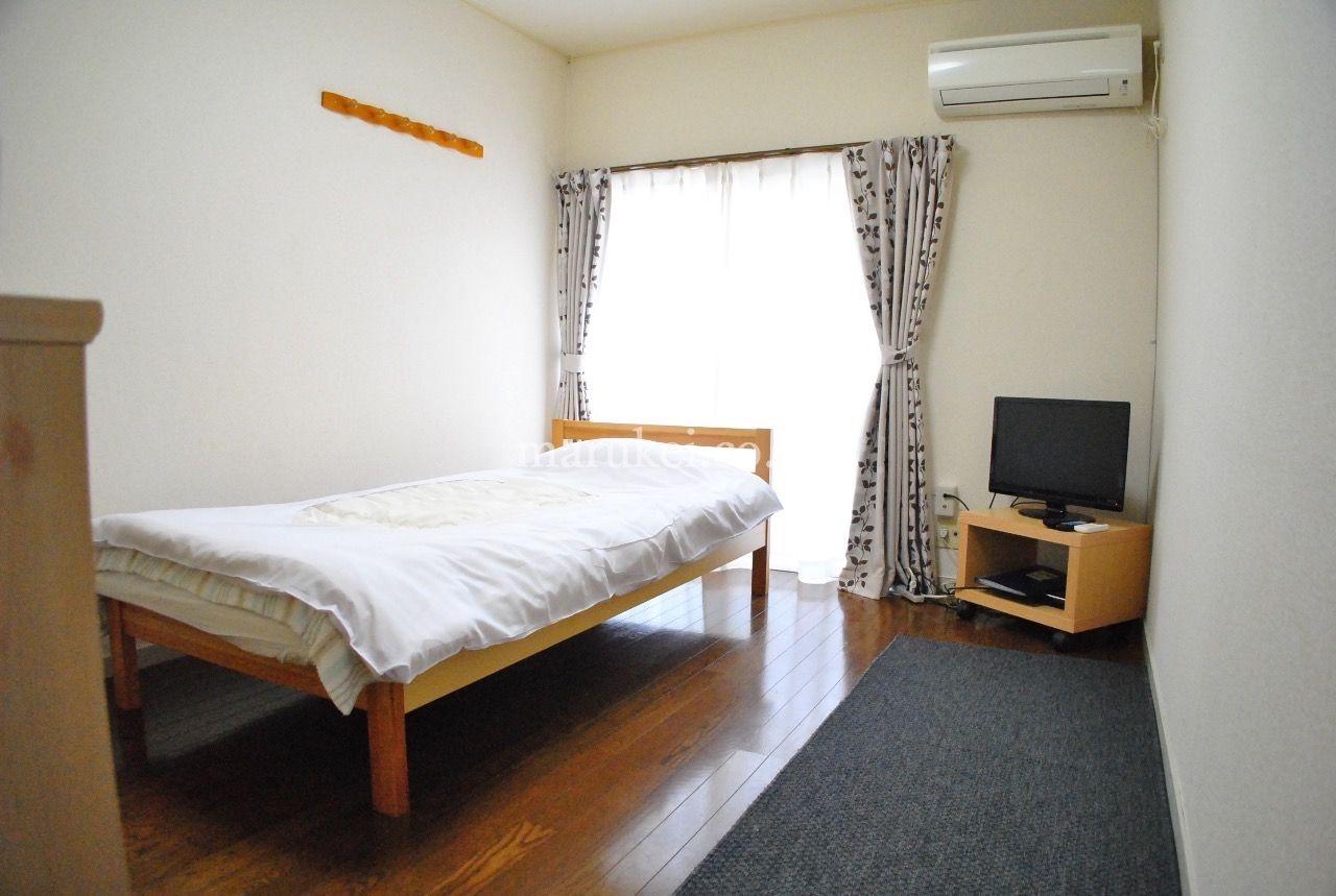 越谷市の当社物件では一番春日部に近いです。2階のお部屋です。家具家電つきのマンスリー物件です。 表紙