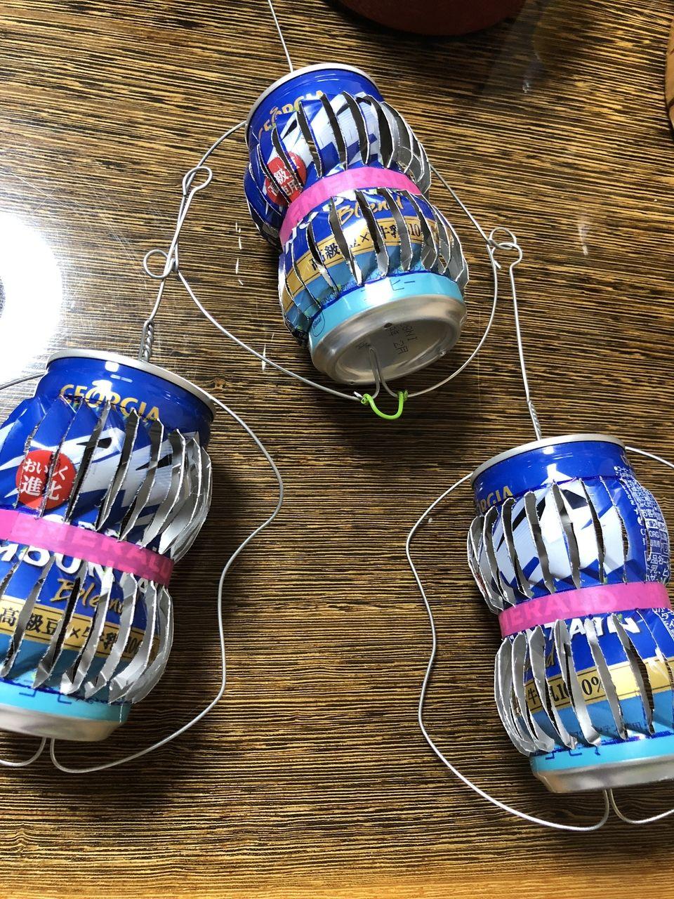 200ミリ缶のアルミ缶風車