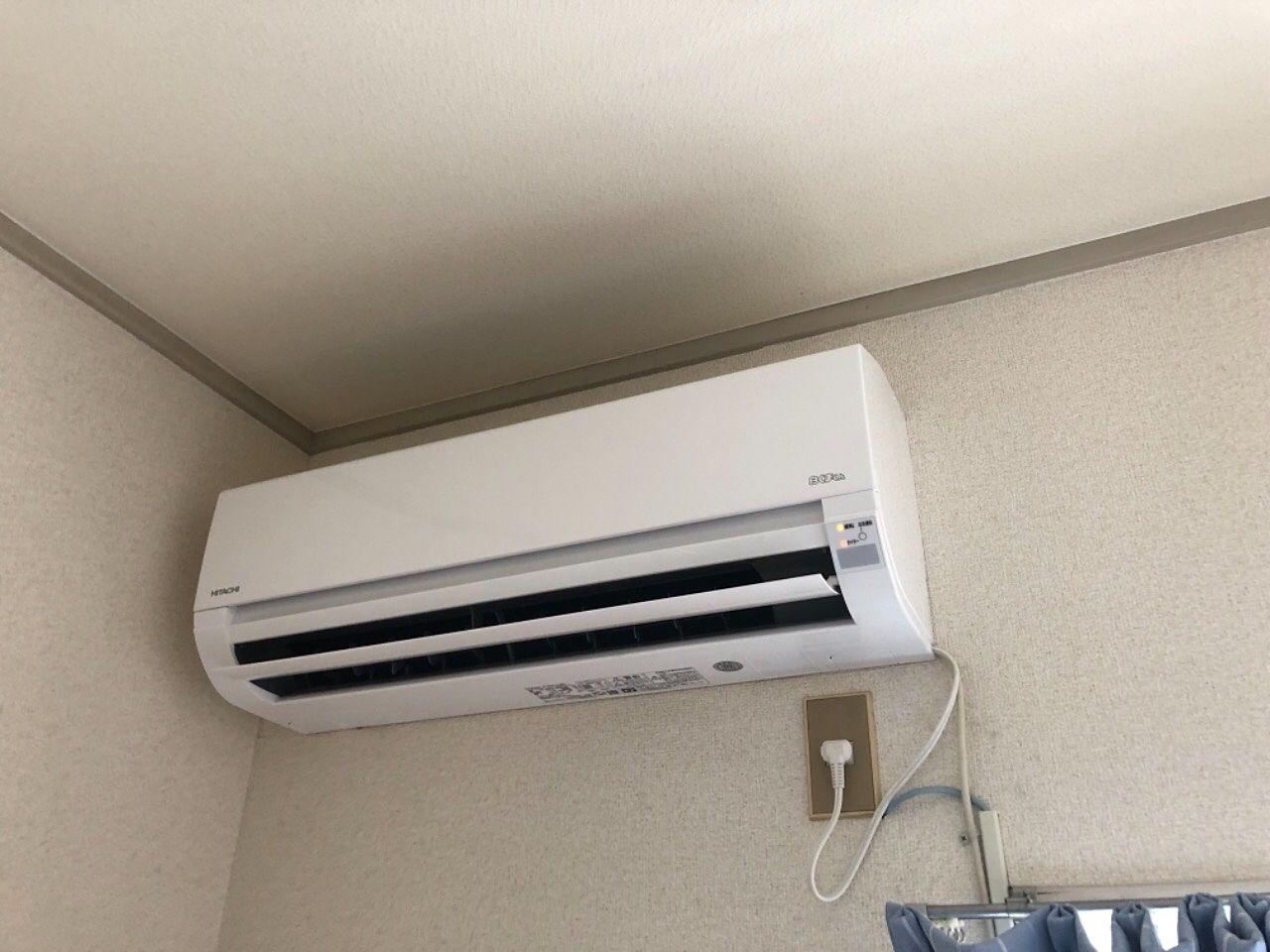 越谷のあんしんマンスリー・ケイハイツ越谷102 エアコン新規交換しました。