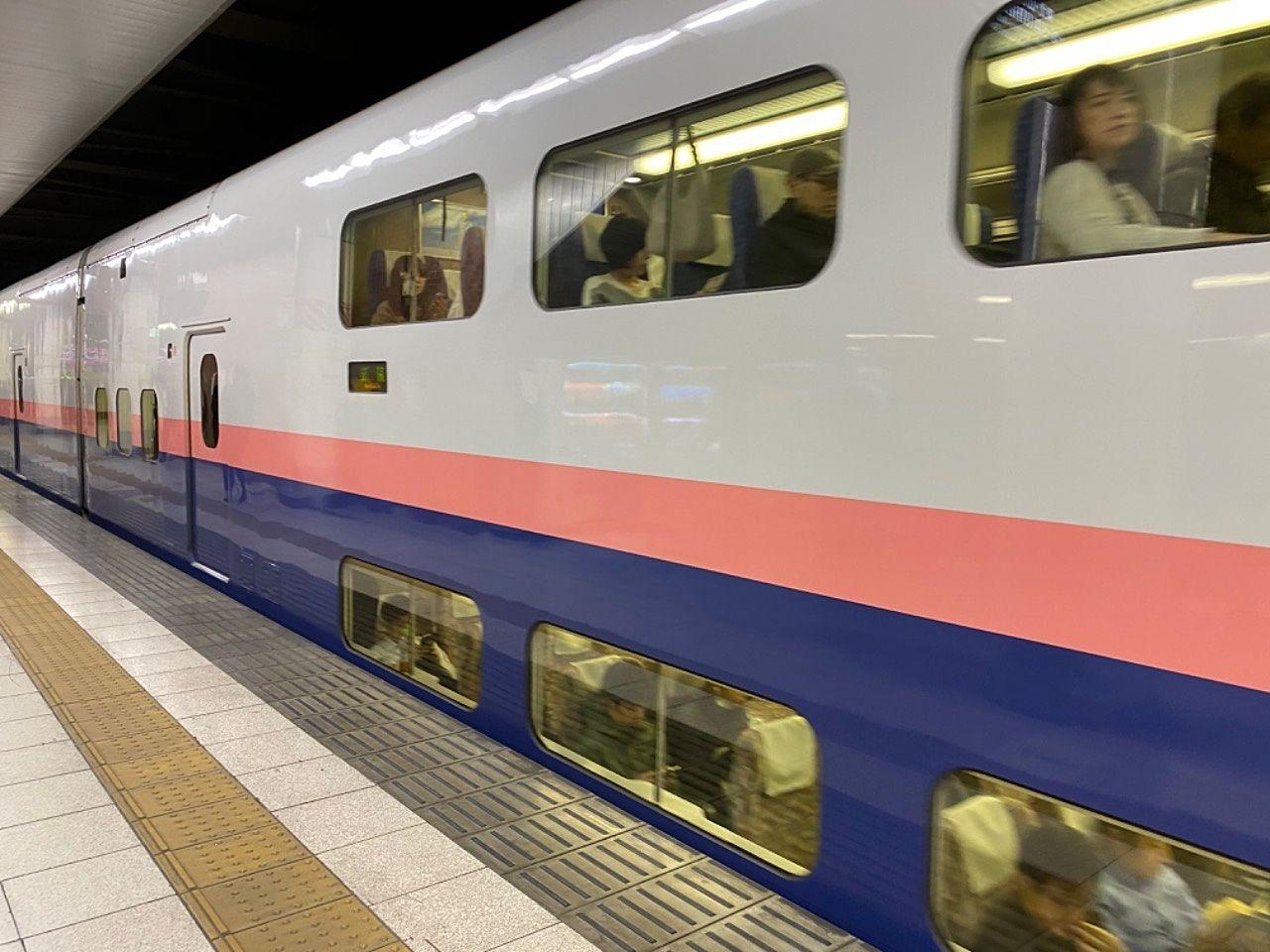 上越新幹線で越後湯沢まで