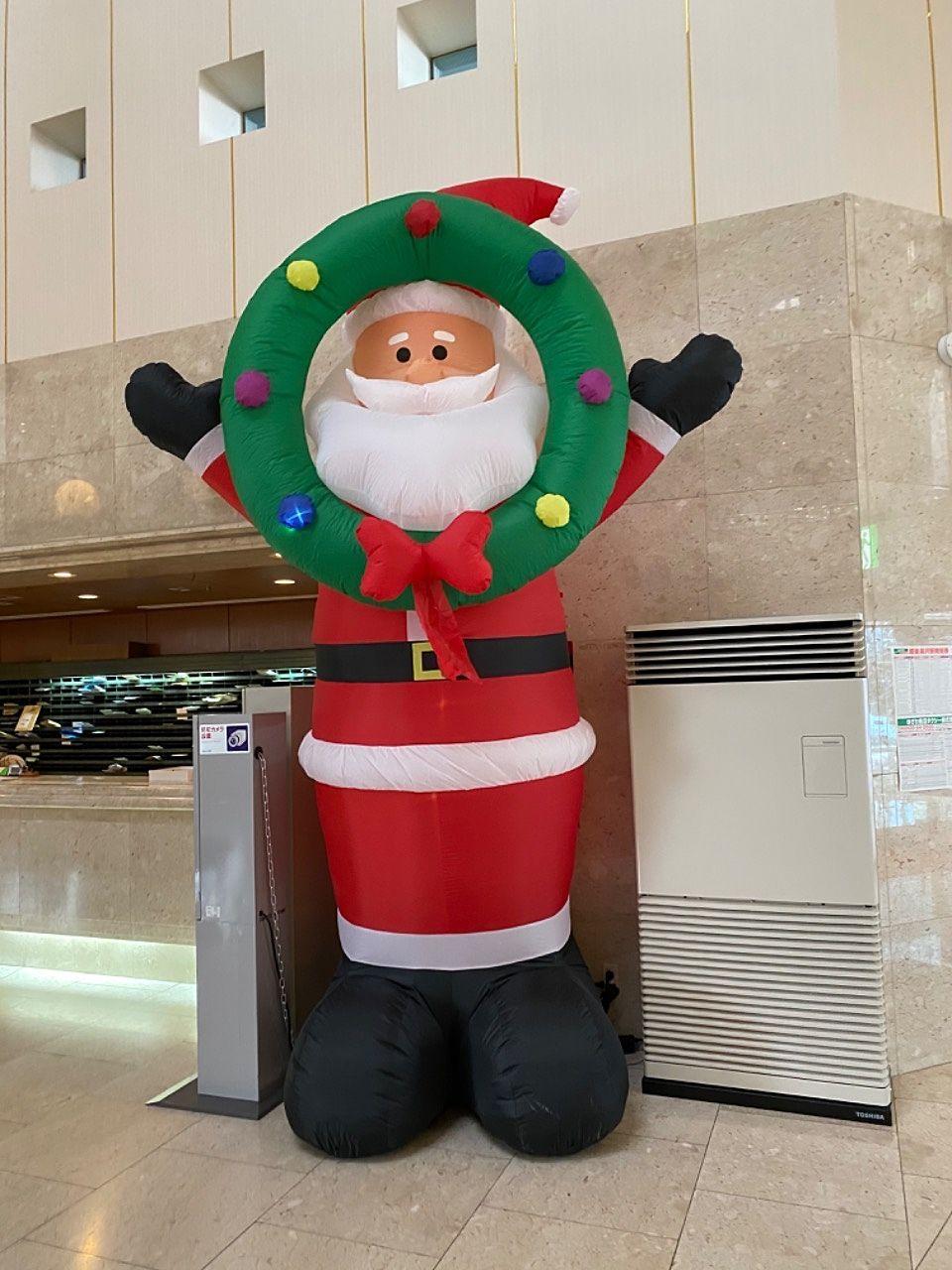 フロントのクリスマス飾り