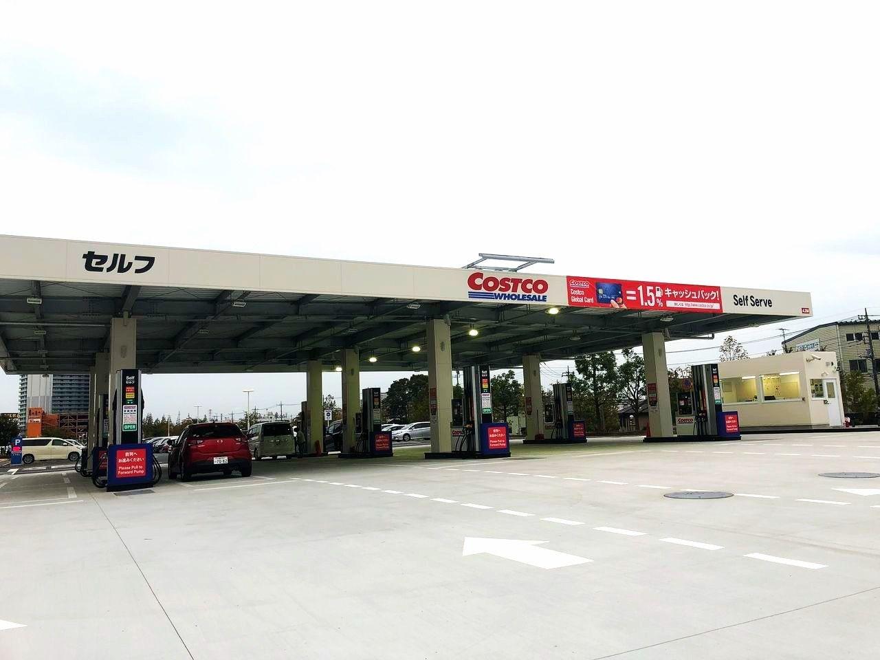 新三郷コストコのガソリンスタンド